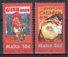 Malta 2003 Set Of Stamps To Celebrate Europa Poster Art. - Malta