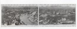 1 Cpa 28 X 9 Cm Lyon : Panorama Côté Nord Et Nord Ouest. 2 Cartes Attachées - Other