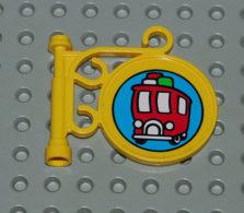 Lego Enseigne Jaune Avec Sticker Fabuland Ref X222pb05 - Lego Technic