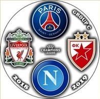 Pin Champions League 2018-2019 Group C Paris Saint-Germain Liverpool Napoli Crvena Zvezda - Fútbol