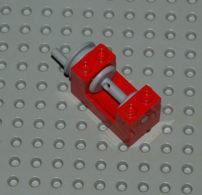 Lego Treuil Rouge 2x4x2 Ref 73037 - Lego Technic