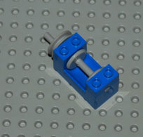 Lego Treuil Bleu 2x4x2 Ref 73037 - Lego Technic