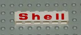 Lego Brique Blanc 1x6 Avec Motif Printed Shell Ref 3009pt1 - Lego Technic