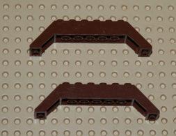 Lego Lot 2 Brique Brune Pente 45 10x2x2 Ref 30180 - Lego Technic