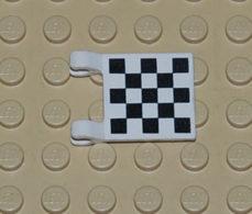 Lego Flag Drapeau 2x2 Avec Motif A Carreau Printed Ref 2335p03 - Lego Technic