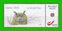 BUZIN - Hibou Grand-duc - Namur 08-09-2018 - Private Stamps