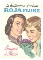 Carte Pub Parfumée : La Brillantine-Parfum Rojaflore, Bouquet De Fleurs - Cartes Parfumées
