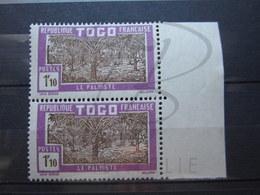 VEND TIMBRES DU TOGO N° 157 EN PAIRE + BDF , NEUFS SANS CHARNIERE !!! - Togo (1914-1960)