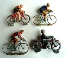 LOT FIGURINES Marques Et états Divers CYCLISTES DIVERS PLASTIQUE ET ALU FIGURINE - Figurines