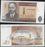 Estonia P 69 - 1 Kroon 1992 - UNC - Estonie