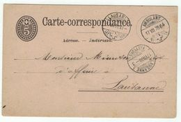 Suisse // Schweiz // Switzerland //  Entiers Postaux  //  Entier Postal Au Départ Ambulant Du 17.07.1878 - Interi Postali
