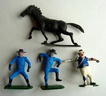 FIGURINE DUCOLP ZORRO LOT 4 FIGURINES SGT GARCIA TORNADO - Figurines