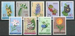 Yougoslavie YT N°843/851 Flore Médicinale Neuf ** - 1945-1992 República Federal Socialista De Yugoslavia
