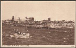 The Harbour Entrance, Littlehampton, Sussex, C.1950 - Salmon Postcard - England