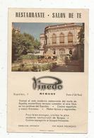 Publicité ,RESTAURANTE,SALON DE TE PINEDO ,Burgos ,Espagne ,2 Scans - Advertising