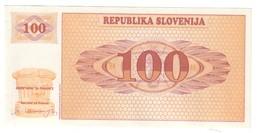 Slovenia 100 Tolarjev 1990 UNC - Slovénie