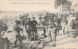 33--AOUT 1914--CHASSEURS ALPINS-QUAI DE QUEYRIES--TBE--VOIR SCANNER - Bordeaux