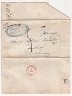 Belgique. Précurseur Envoyé De Bruxelles Vers Gembloux Le 18/9/1849 Désolé, Je N'y Connais Rien - 1830-1849 (Belgique Indépendante)