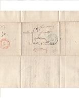 Belgique. Précurseur Envoyé De Bruxelles Vers St Nicolas Le 15/2/1837 Désolé, Je N'y Connais Rien - 1830-1849 (Belgique Indépendante)