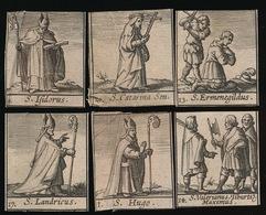 6 HEILIGE PRENTJES 6 HOLY CARDS 18 EEUWSE GRAVUREN 3.8 X 3 CM - Images Religieuses
