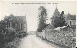 Carte Postale Ancienne De Trans Sur Erdre Arrivée Par La Route De La Meilleraye - France