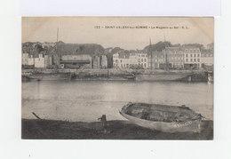 Saint Valéry Sur Somme. Le Magasin Au Sel. Avec Embarcations à Voile. (3089) - Saint Valery Sur Somme