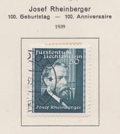 LIECHTENSTEIN 1939:   Timbre Oblitéré,    TTB - Collections