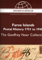 ! Sonderkatalog Sammlung Geoffrey Noer, Faroe Islands, Färöer Inseln, 265 Lose, 89 Seiten, Auktionshaus Heinrich Köhler - Auktionskataloge