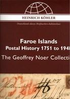 ! Sonderkatalog Sammlung Geoffrey Noer, Faroe Islands, Färöer Inseln, 265 Lose, 89 Seiten, Auktionshaus Heinrich Köhler - Catálogos De Casas De Ventas
