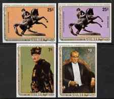 81572 Guinea - Conakry 1982 Birth Centenary Of Kemal Ataturk (Turkish Statesman) Imperf Set Of 4 (constitutions) - Guinea (1958-...)