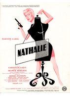 Dossier De Presse Cinéma. Affichette Nathalie De Christian-jaque Avec Martine Carol, Misha Auer, Michel Piccoli. - Cinema Advertisement