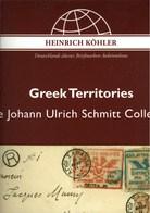 ! Sonderkatalog Sammlung Greek Territories, Griechenland, 629 Lose, 130 Seiten, Auktionshaus Heinrich Köhler - Auktionskataloge