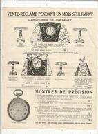 Publicité ,vente Réclame , Montres Labor ,fabrique E. Victor, Paris , Garnitures De Cheminée,frais Fr 1.45 E - Advertising