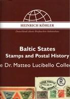 ! Sonderkatalog Sammlung Dr. Matteo Lucibello, Baltic States, 1001 Lose, 140 Seiten, Auktionshaus Heinrich Köhler - Lettonie
