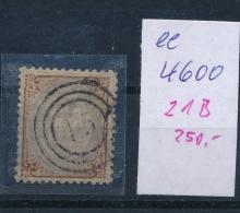 DK..   Nr. 21 B     O- Stempel Beachten ... (ee4600 ) Siehe Scan.... - 1864-04 (Christian IX)
