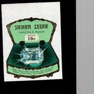 632130334 SIERRA LEONE 1970 ** MNH SCOTT 411 SEWA DAIDEM IN JEWELRY BOX DAIMONDS - Sierra Leone (1961-...)