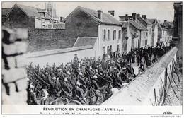 51 - Ay - Emeutes En Champagne 1911- Manifestants Et Dragons - Ay En Champagne