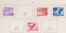 LIECHTENSTEIN Poste Aérienne 1939:   Timbres Oblitérés 'Les Aigles',  Forte Cote     TTB - Liechtenstein
