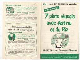 Publicité ,ASTRA , Recettes Par Françoise BERNARD , 4 Pages , 3 E Semaine ,frais Fr 1.45e - Advertising