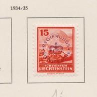LIECHTENSTEIN Service 1934-35:   Timbre Neuf* ,    TTB - Liechtenstein