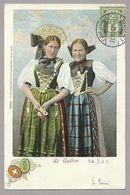 Schweiz Suisse 1902: St.Gallen (2 Trachten & Wappen) Mit O CHAUX-DE-FONDS 28.VIII.02 Nach Montmorency (France) - SG St. Gall