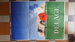 REEDITION AFFICHE DELAGE PAR J. JACQUELIN 1939 MUSEE DE L AUTOMOBILISTE A MOUGINS VOITURE AUTOMOBILE - Affiches