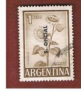 ARGENTINA -  O1034 OFFICIAL STAMPS   -  1959 SUNFLOWER (OVERPRINTED) -    USED ° - Servizio