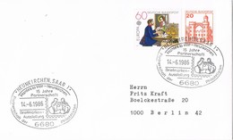 29820. Carta NEUNKIRCHEN, Saar (Alemania Federal) 1986. Jumelage, Partnerschaft - [7] República Federal
