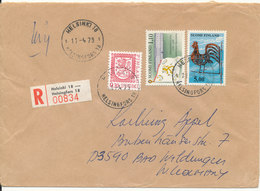 Finland Registered Cover Sent To Germany Helsinki 11-4-1979 - Covers & Documents