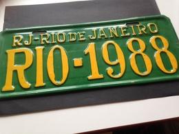 AUTO-NUMMERNSCHILD - RIO DE JANEIRO - 1988 - Autres Collections