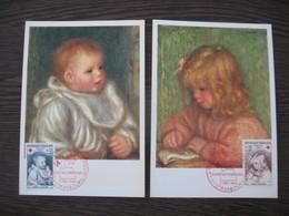 Carte Maximum     1965    N°  1466 Et 1467  Croix Rouge - Cartes-Maximum
