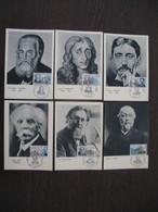 Carte Maximum     1966    N° 1470 à 1475  Célébrités - Cartes-Maximum