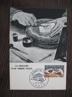 Carte Maximum     1966    N° 1477    Journée Du Timbre - Cartes-Maximum