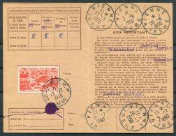 1949 France Carte D'Abonnement Grenoble, Poste Aerienne, Vienne Isere - Airmail